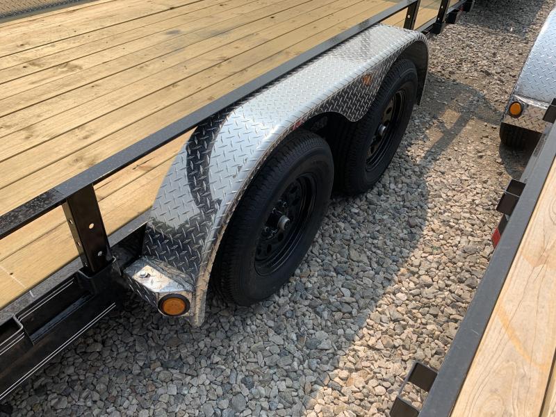 PJ 7x20 Tandem Axle Channel Utility (UL) w/ ATV Ramps