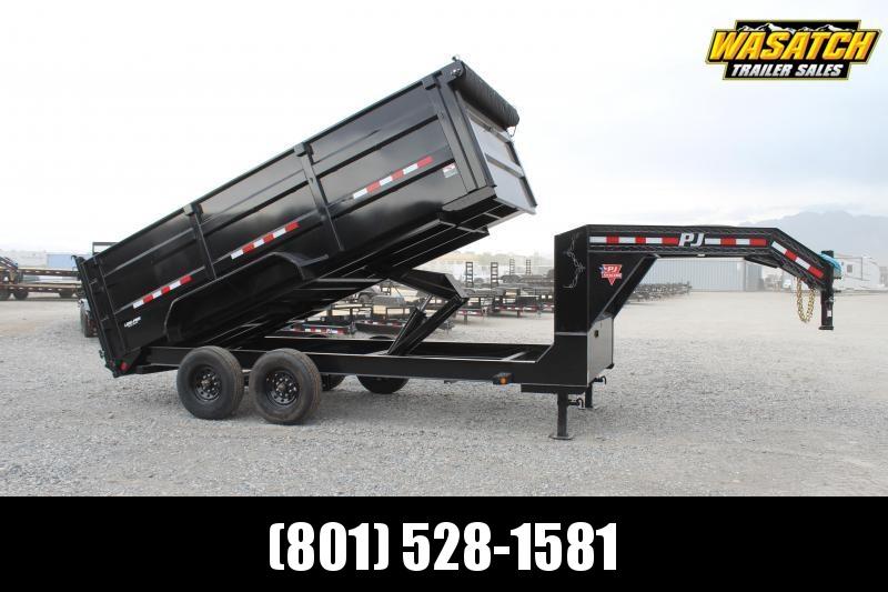 "PJ Trailers 7x16 83"" Low-Pro High Side Dump (DM) Dump Bodies"