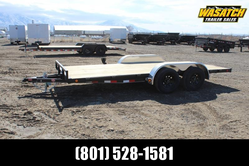 "PJ Trailers 7x18 5"" Channel Carhauler (C5) Car / Racing Trailer"