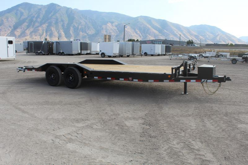 "PJ Trailers 7x20 6"" Channel Super-Wide (B6) Equipment Trailer"