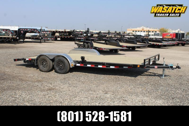 "PJ Trailers 7x18 4"" Channel Carhauler (C4) Car / Racing Trailer"