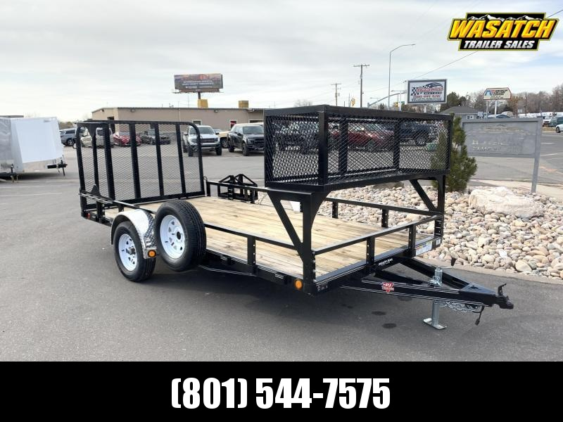 PJ 7x14 Single Axle Channel Utility (U8) w/ Ready Rail Landscaping Package