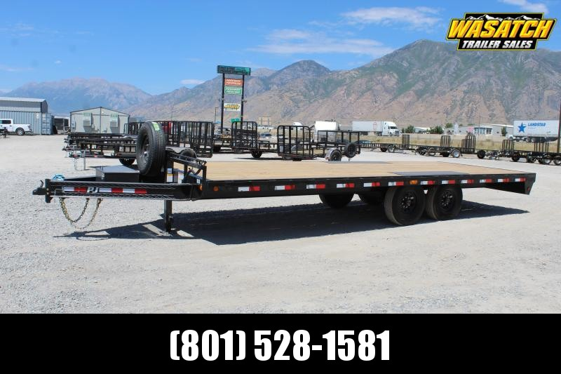 "PJ Trailers 85x22 8"" I-Beam Deckover (F8) Equipment Trailer"