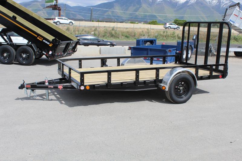 PJ Trailers 6.5x12 Single Axle Channel (U7) Utility Trailer