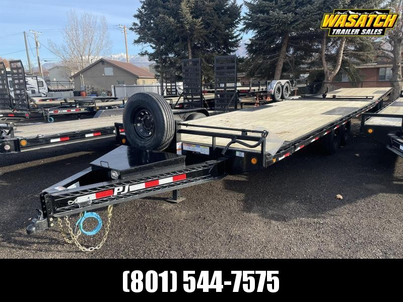 PJ 24' Deckover Tilt / Equipment Trailer (T8)
