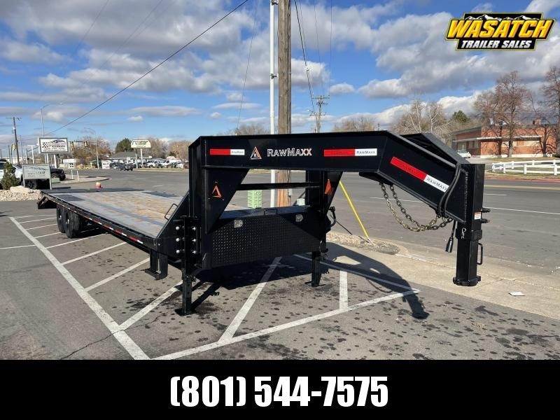 RawMaxx 30' Gooseneck Flatbed / Flatdeck / Equipment Trailer
