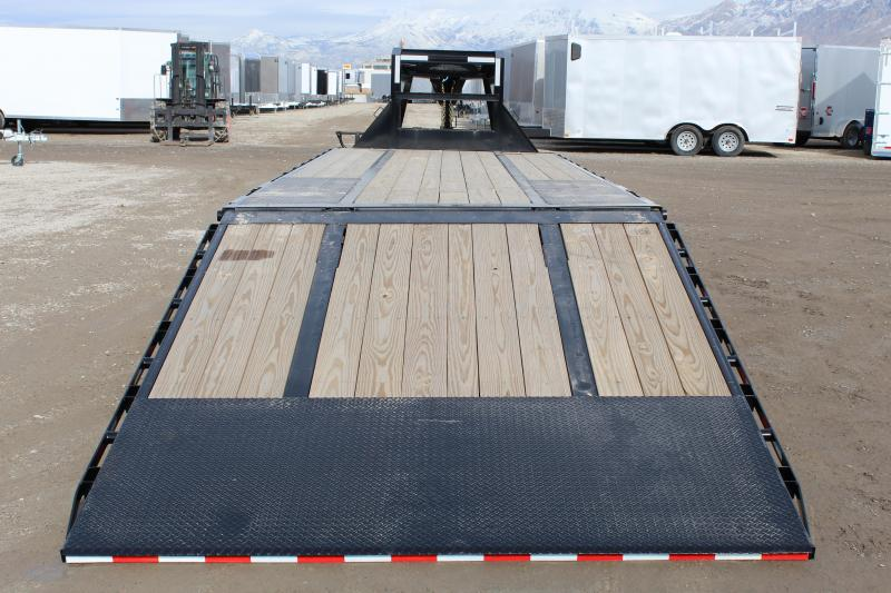PJ Trailers 85x32 Low-Pro With Hydraulic Dove (LY) Flatbed Trailer