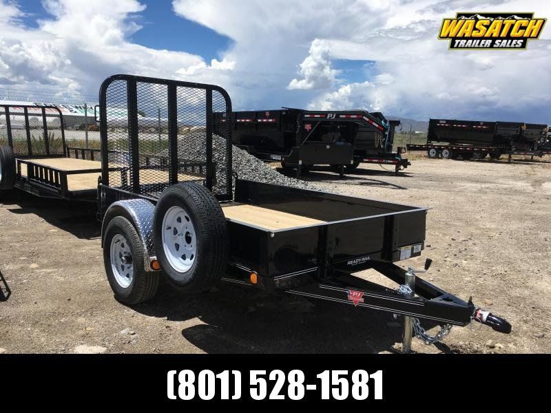 "PJ Trailers 5x8 Single Axle Channel (U6) Utility w/ 12"" Solid Sides"