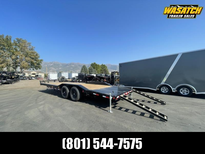 PJ - B6 - 24' - 6 in. Channel - Super-Wide Car Hauler / Equipment Trailer