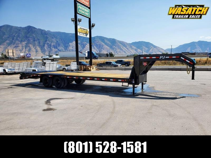 PJ Trailers 85x27 Low-Pro Flatdeck With Duals (LD) Enclosed Cargo Trailer