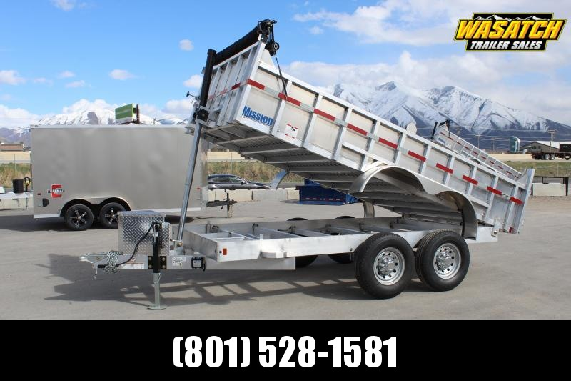 Mission 7x14 Aluminum Telescopic Dump Trailer