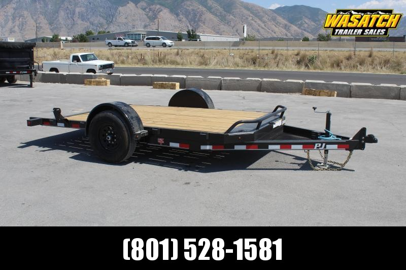 PJ Trailers 7x13 Single Axle HD Tilt (T1) Equipment Trailer