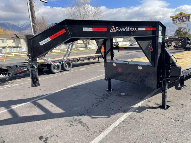RawMaxx 24' Gooseneck Flatbed / Flatdeck / Equipment Trailer