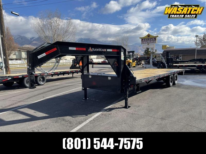RawMaxx 24' Gooseneck Flatbed / Flatdeck / Equipment Trailer