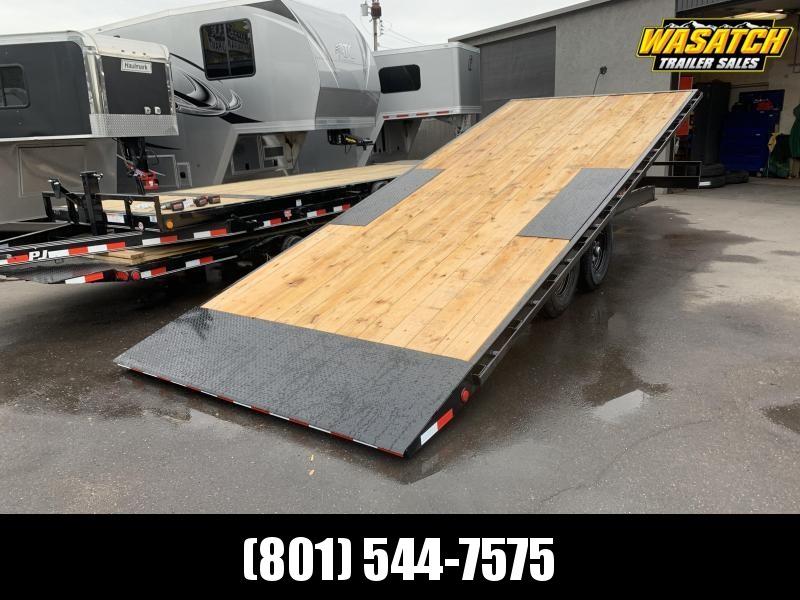 PJ - T8 - 22' - Deckover Tilt - Equipment / Flatbed / Flatdeck Trailer