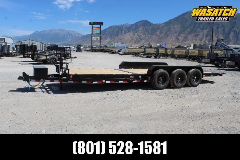 "PJ Trailers 7x22 6"" Channel Tilt (T6) Equipment Trailer"