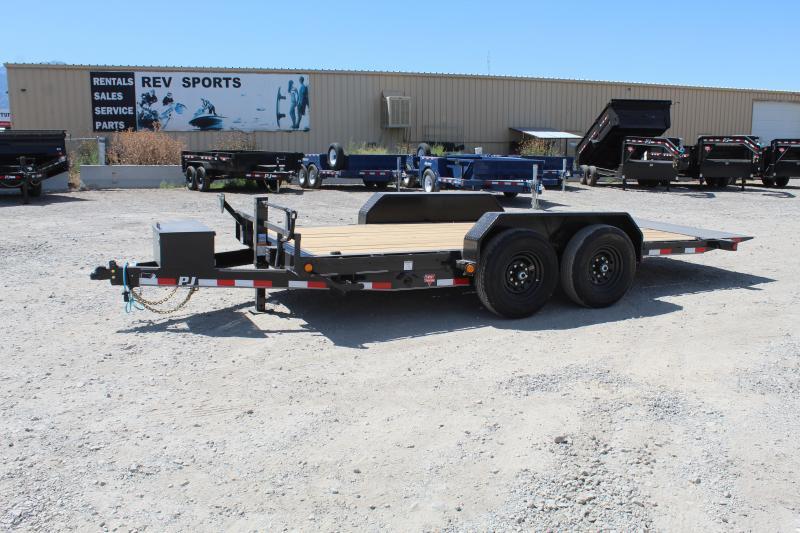 """PJ Trailers 7x16 6"""" Channel Equipment Tilt (T6) Equipment Trailer"""