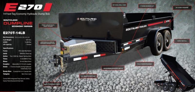 ***Southland Trailers 7x14 SL270 Dump Trailer***