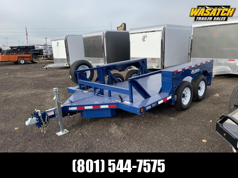Air Tow T12-7 Tandem Axle Flatbed Equipment Trailer