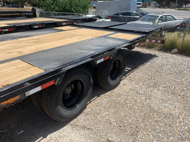 PJ 28' - Gooseneck Flatdeck with Duals (LD) Flatbed