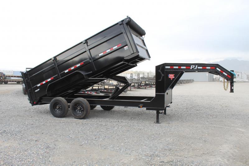 PJ Trailers 7x16 Low-Pro High Side (DX) Dump Trailer