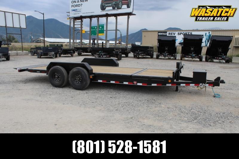"PJ Trailers 7x20 HD Equipment Tilt 6"" Channel (TJ) Equipment Trailer"