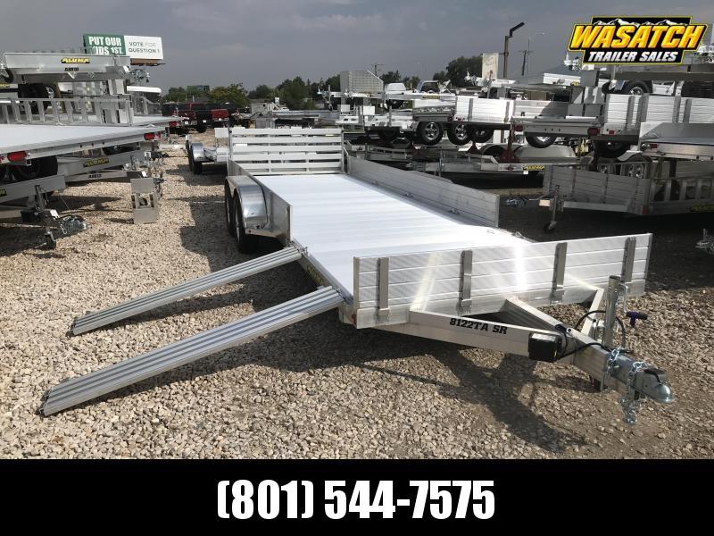 "Aluma 6'9""x22' (8122TASR) Aluminum Utility UTV / ATV / RZR Trailer"