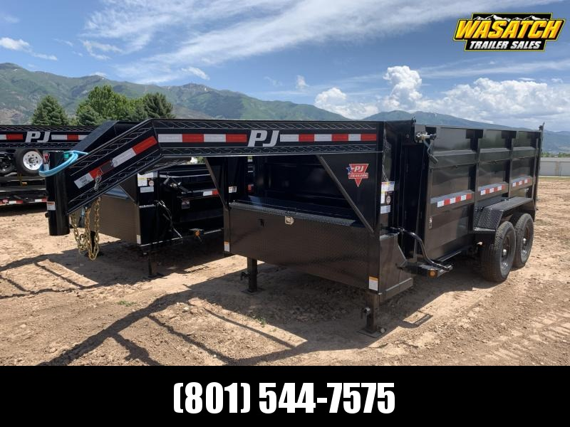 PJ 7x14 Gooseneck High Side Dump (DM)