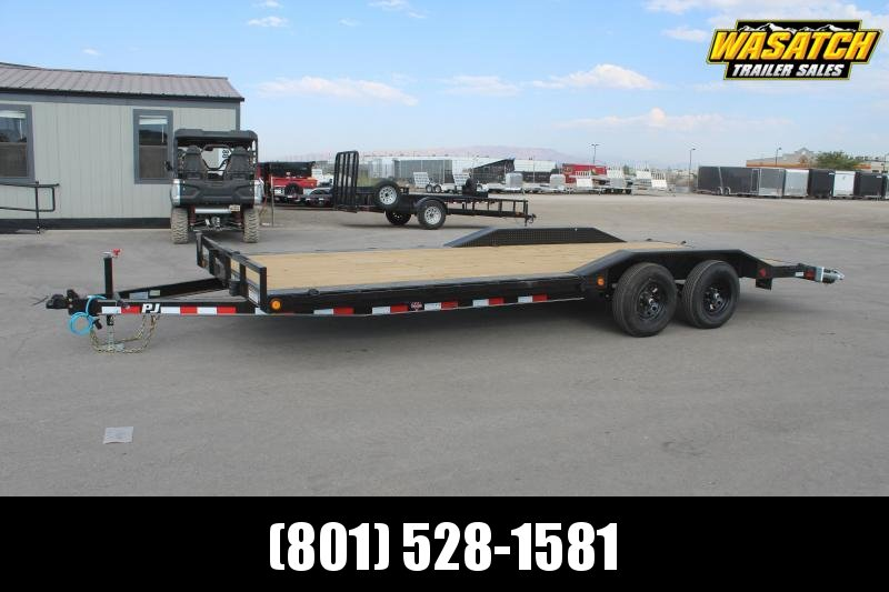"PJ Trailers 85x22 5"" Channel Buggy Hauler (B5) Equipment Trailer"
