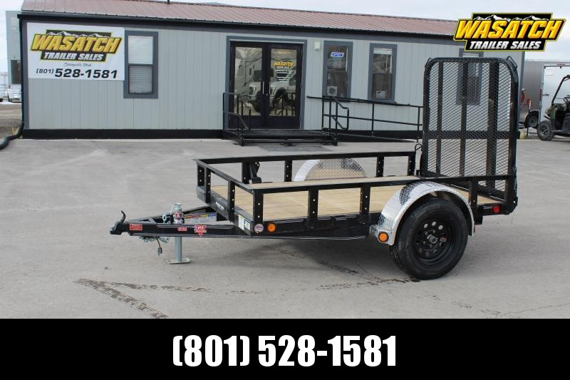 PJ Trailers 5x12 Single Axle Channel (U6) Utility Trailer