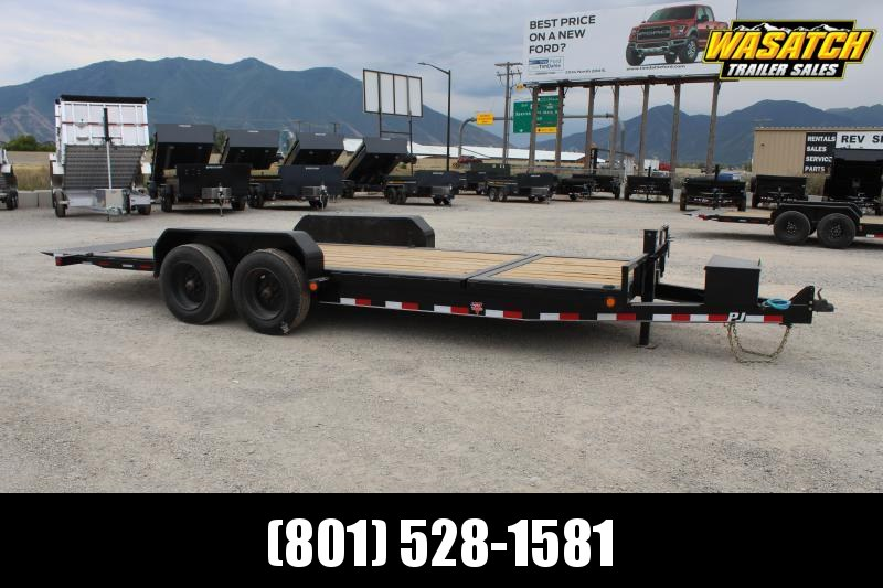 "PJ Trailers 7x20 HD Tilt 6"" Channel (TJ) Equipment Trailer"