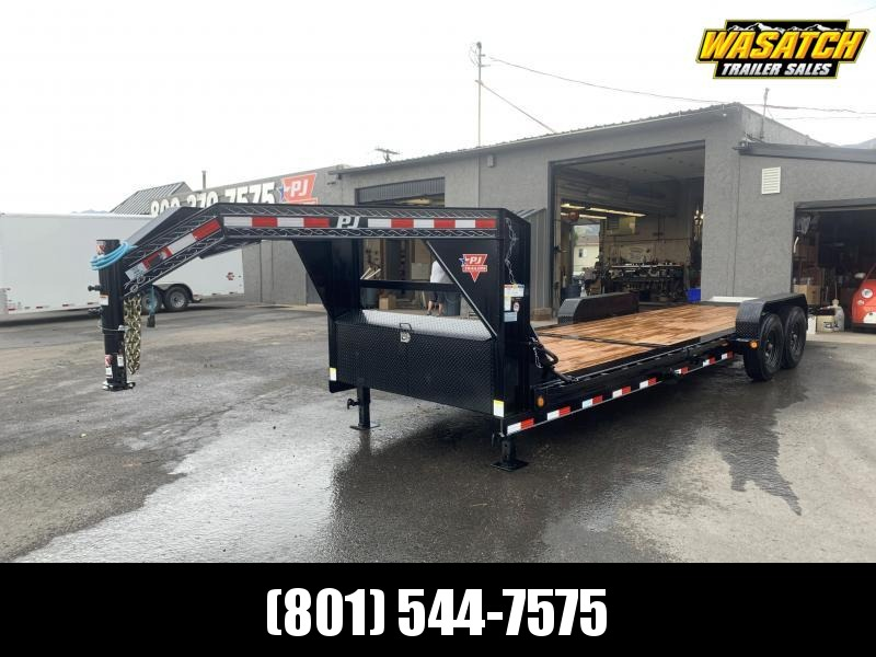 PJ 24' TJ Gooseneck Tilt Equipment / Flatdeck / Flatbed