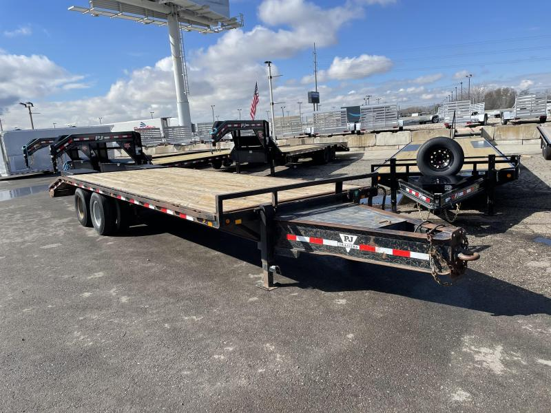 USED - 25' PJ Pintle with Duals (PL) Flatbed / Flatdeck / Equipment Trailer