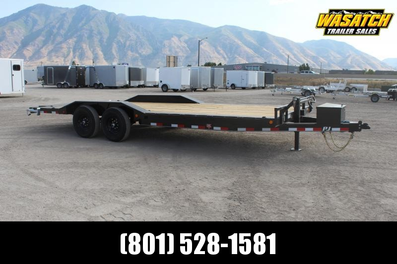 "PJ Trailers 7x22 6"" Channel Super-Wide (B6) Equipment Trailer"