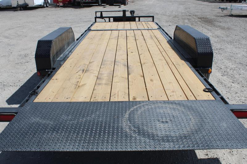 """PJ Trailers 7x22 6"""" Channel Equipment Tilt (T6) Equipment Trailer"""