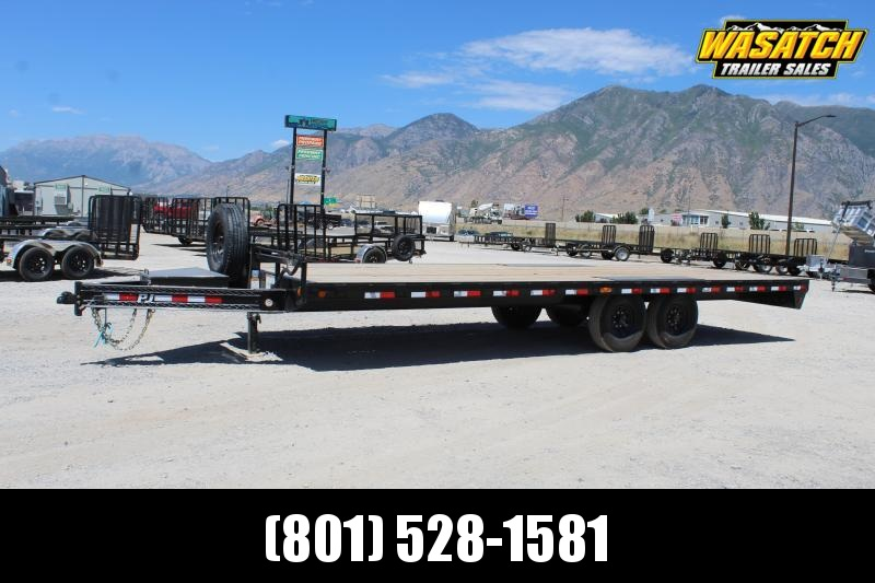 "PJ Trailers 85x24 8"" I-Beam Deckover (F8) Equipment Trailer"