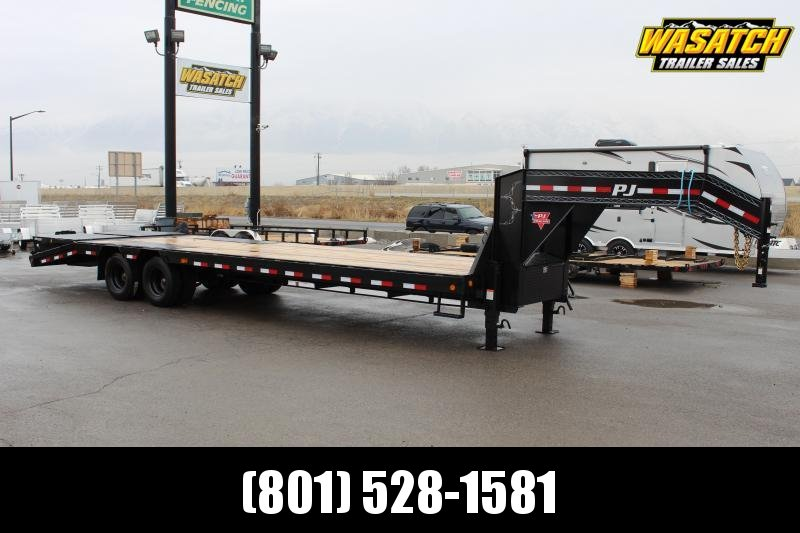 """PJ Trailers 85x30 14"""" I-Beam Low-Pro With Duals (L3) Flatbed Trailer"""