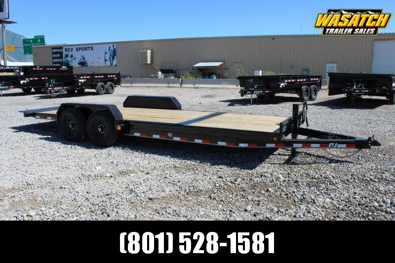 "PJ Trailers 7x22 6"" Channel Equipment Tilt (T6) Equipment Trailer"