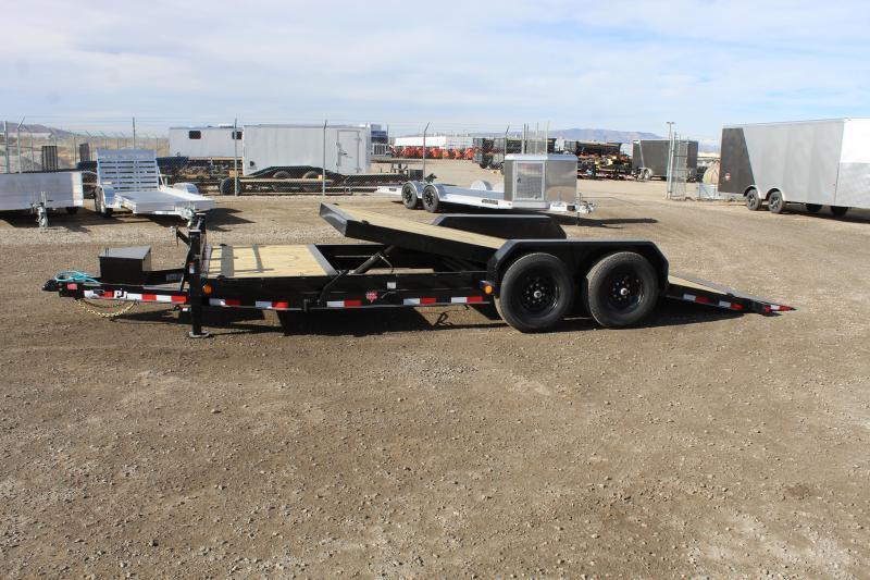 """PJ Trailers 7x20 6"""" Channel Equipment Tilt (T6) Equipment Trailer"""