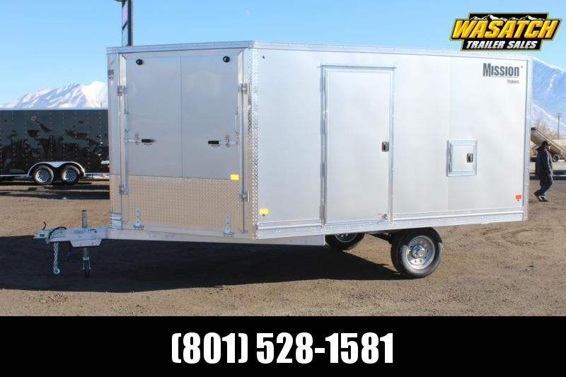 ALCOM 85x16 Mission Aluminum Snowmobile Trailer
