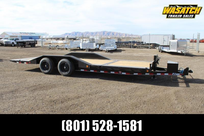 "PJ Trailers 85x22 6"" Channel Super-Wide Tilt (TS) Equipment Trailer"
