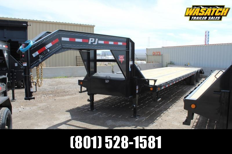 PJ Trailers 85x40 Low-Pro Flatdeck With Duals (LD) Flatbed Trailer w/ Hydraulic Disk Brakes