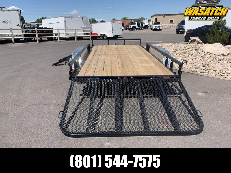 PJ 7x16 Tandem Channel Utility (UL) w/ Ramps for ATV / UTV / RZR