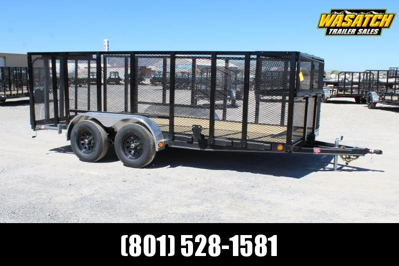 PJ Trailers 83x16 Tandem Axle Channel (UL) Utility Trailer
