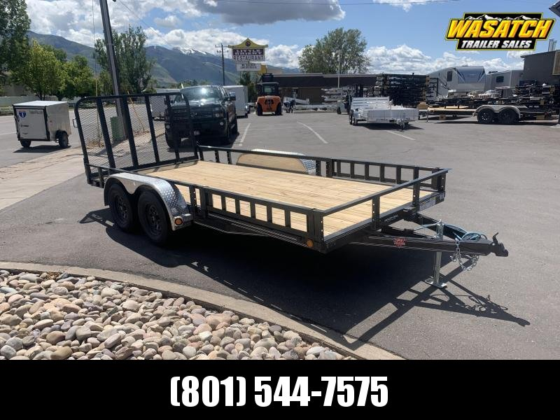 PJ 7x16 Tandem Channel Utility (UL) w/ ATV Ramps