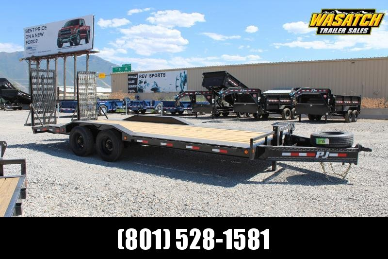 "PJ Trailers 85x22 10"" Pro-Beam Super-Wide (H7) Equipment Trailer"
