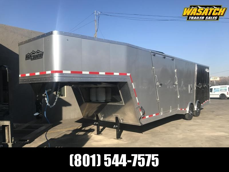 2019 High Country 36ft Gooseneck Elevation Snowmobile Trailer