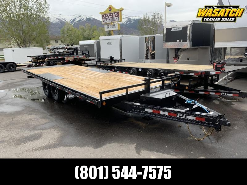 PJ 22' Deckover Tilt Equipment / Flatbed / Flatdeck Trailer