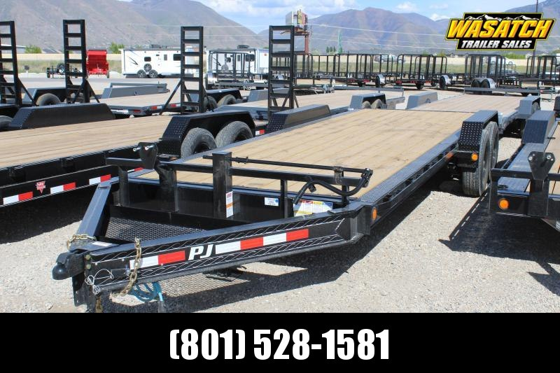 "PJ Trailers 7x22 8"" Pro-Beam Equipment (H4) Equipment Trailer"