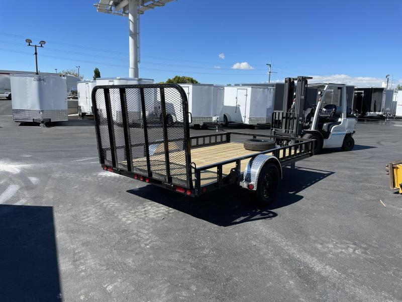 PJ - U8 - 7x12 - Single Axle - ATV Ramps - Channel Utility